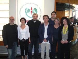 Da sinistra: Gaetano Monsu', Martina Burgaletta, Liugi Dimarco, Enzo Iacono, Peppe Occhipinti, Carolina Giardina, Laura Galota