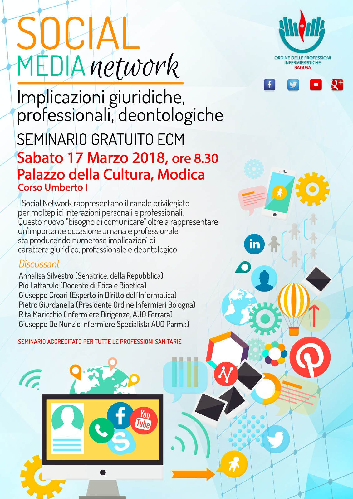 Evento ECM gratuito. Social, media e network.